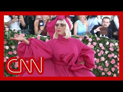 Lady Gaga strips down to black underwear at Met Gala