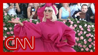 Lady Gaga strips down to black underwear at Met Gala
