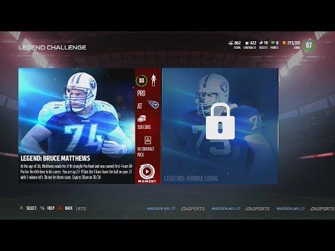 Madden NFL 17 | MUT  Legends Challenge | Bruce Matthews