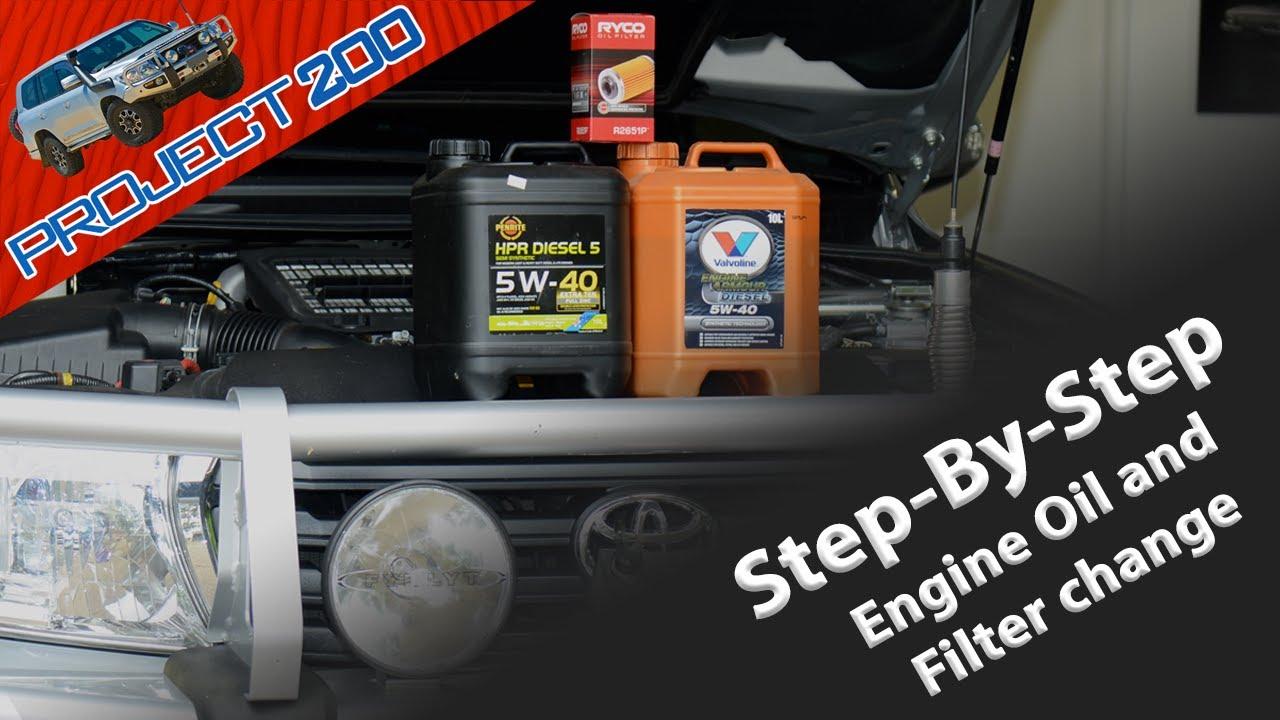 LandCruiser 200 oil & oil filter change - Twin Turbo Diesel VDJ200 ...