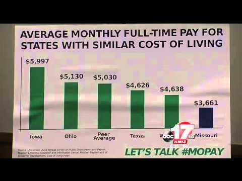 Missouri ranks last in state employee pay