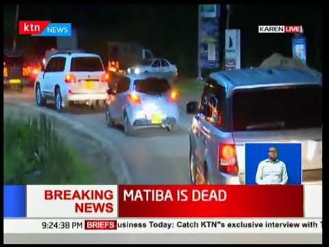 Kenneth Matiba's body being moved from Karen to Lee funeral home