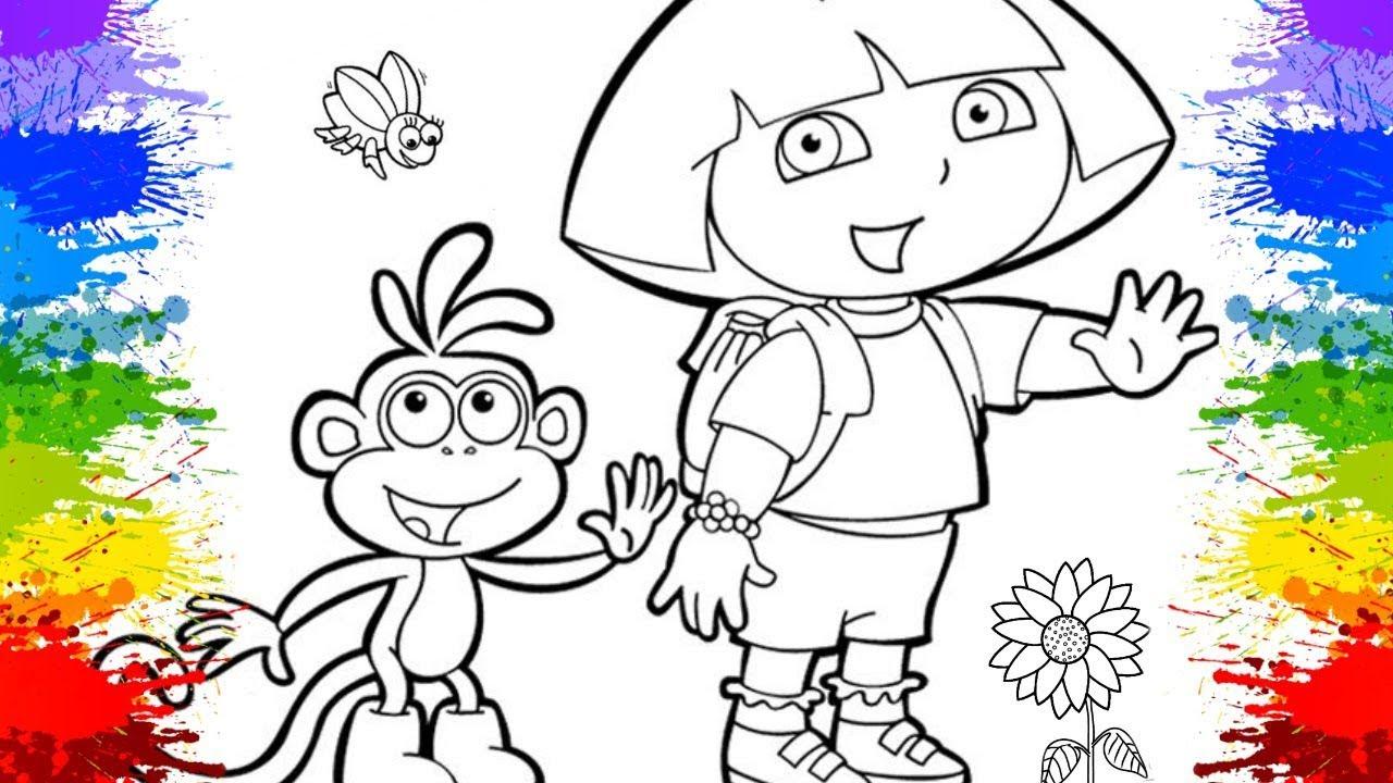 Pinturas Desenhos Da Dora A Aventureira Em Portugues Para Crianca