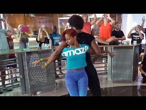 Terry and Cecile's Salsa Workshop at the Aventura Dance Cruise 2015