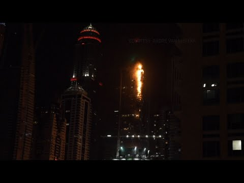 Fire Burns One of World's Tallest Towers