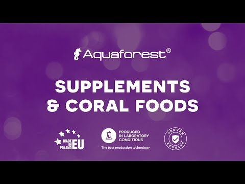 Aquaforest Supplements and coral foods