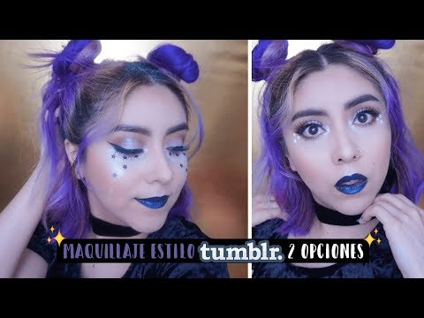 TUMBLR style makeup for taking pictures or for electronic music festival (coachella style).