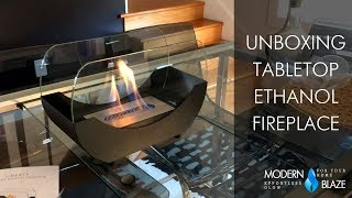 Tabletop Ethanol Fireplace - Unboxing
