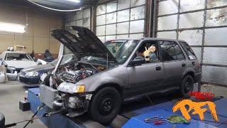 Blasting AWD Turbo Civic WAGO! Metigulous Build