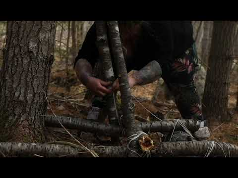 Our FIRST Bush craft video – Finding a location – building a shelter, crafting a chair and cookout