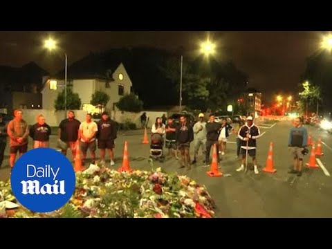 Haka performed as mourners gather at floral tribute for victims