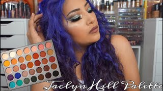 Green Cut Crease With Glitter Using Jaclyn Hill X Morphe Palette