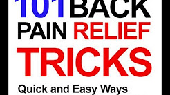 101 Back Pain Relief Tips and Tricks