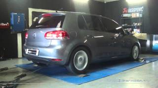 VW Golf 6 1.6 tdi 105cv Reprogrammation Moteur @ 147cv Digiservices Paris 77 Dyno