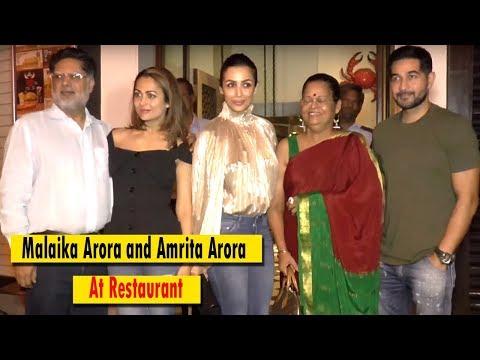 SPOTTED : Malaika Arora and Amrita Arora At Restaurant || Bollywood Bytes
