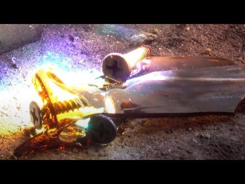 Melting Steel and Glass with the SUN solar Fresnel Lens