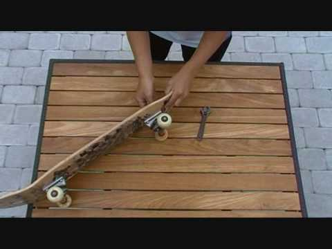How to change kingpin and bushings on a skateboard.