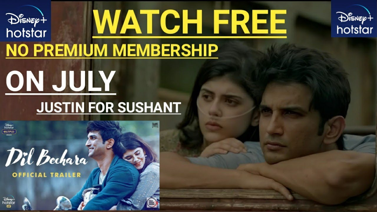 How To Watch Free Dil Bechara Movie In Disney Hotstar App Youtube
