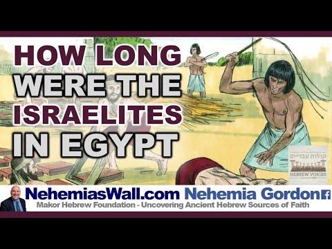 How Long Were The Israelites Egypt - NehemiasWall.com #StayHome #WithMe #NehemiaGordon