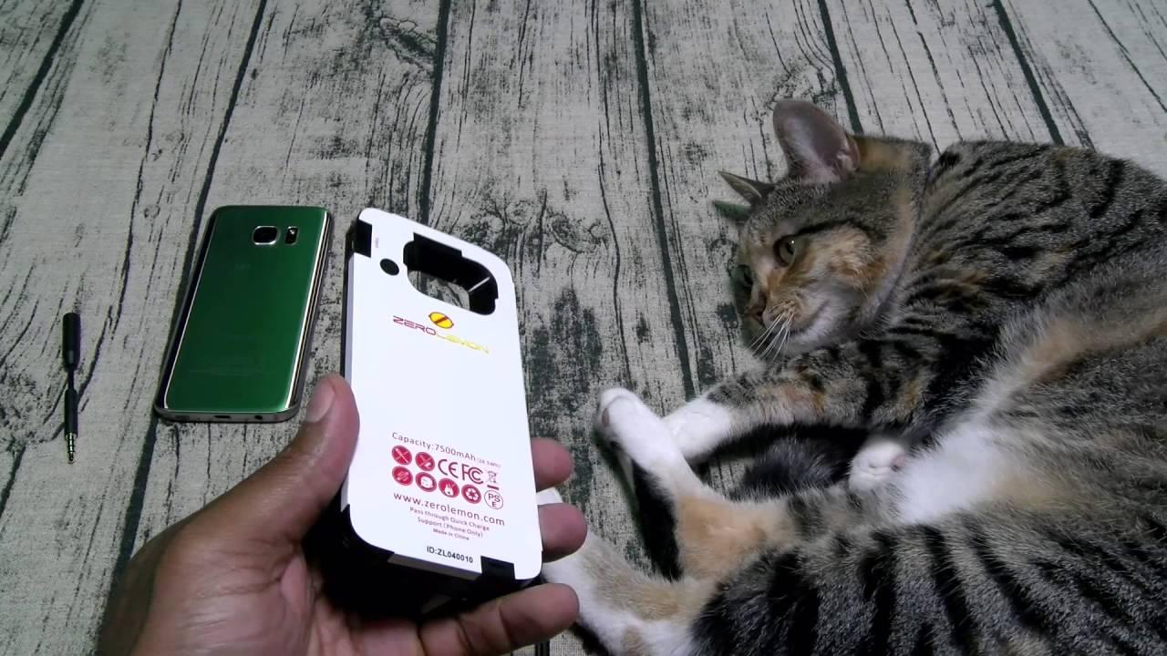 finest selection 9a312 f4fd9 Samsung Galaxy S7 Zerolemon 7500mAh Extended Battery Case