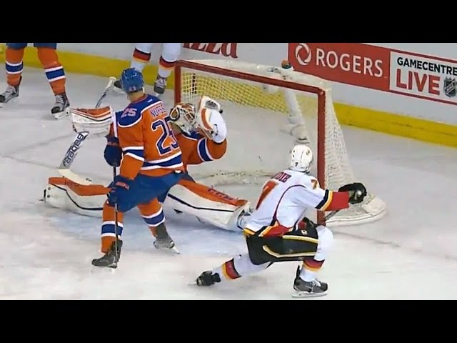 Talbot robs Brodie with huge glove save