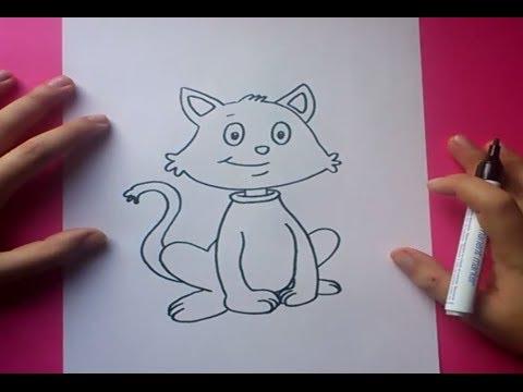 Como dibujar un gato paso a paso 6