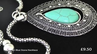 Egyptian Style Blue Stone Necklace Thumbnail