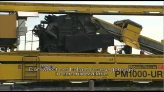 ProRail verbetert spoor met spectaculaire trein