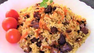 Плов по-фергански, получается рассыпчатым и вкусным даже из самого дешевого риса.