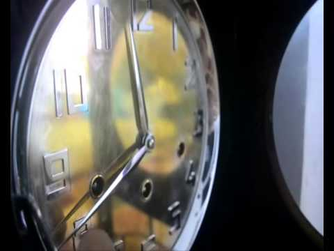 JUNGHANS WALL CLOCK + MIRROR DIAL + WESTMINSTER CHIME.SOUND LIKE A GRANDFATHER CLOCK !