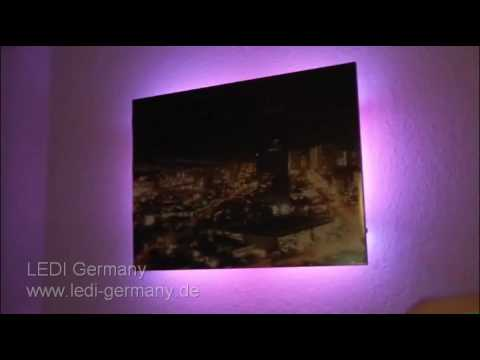 led beleuchtung f r fernseher m bel produkt demo. Black Bedroom Furniture Sets. Home Design Ideas