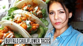 BUFFALO CAULIFLOWER TACOS! An actually EASY and QUICK recipe?!?!  | Tasty Tuesday