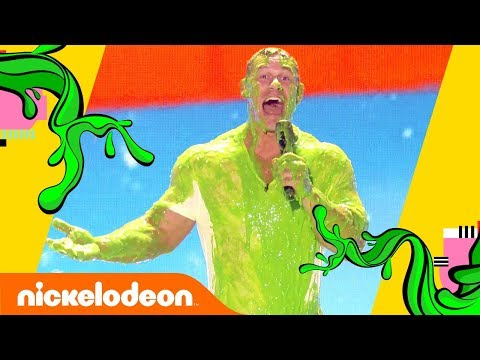 John Cena Gets Slimed…AGAIN! 😝 | Kids' Choice Awards 2018 | Nick