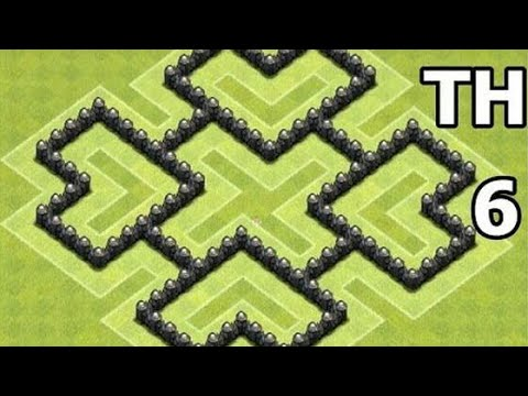 Clash of Clans | New Town Hall 6 Defense Base Layout [CoC TH6]