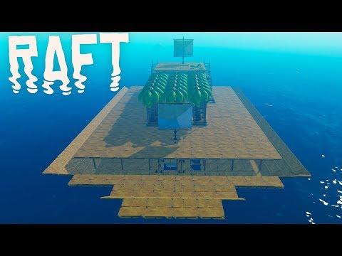 RAFT - Giant Tree Plantation, The Ships Bow & Binoculars! - RAFT Gameplay Highlights