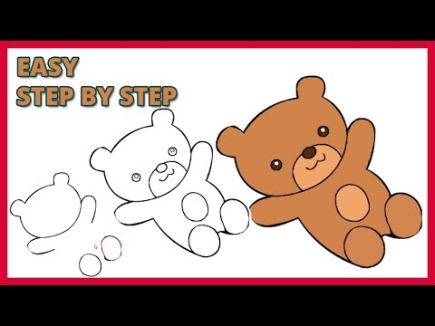 How To Draw A Teddy Bear Step By Step Youtube