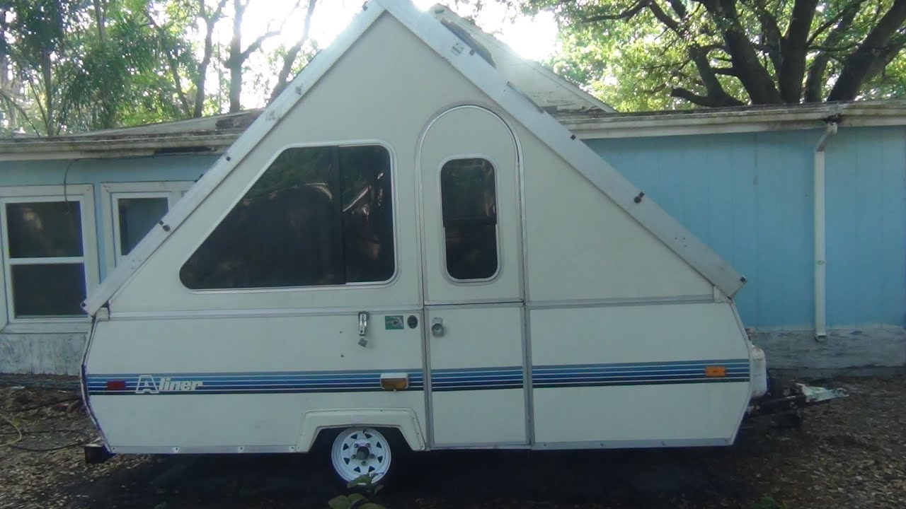 free aliner folding camper from craigslist youtube