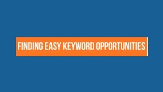 How to find easy keywords to rank for (Basic keyword research with Ahrefs Keywords Explorer)