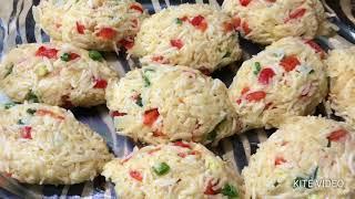 Блюдо из рисовых котлет и подливы/диетическое, без мясо/