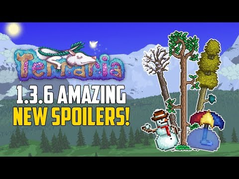 Terraria 1.3.6 DYNAMIC NEW WEATHER EFFECTS! | PAINTING TREES?! | 1.3.6 PC News