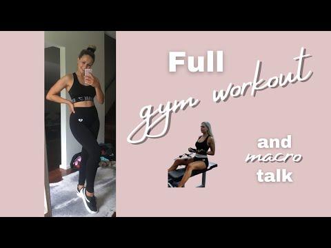 FULL GYM WORKOUT | Days eating | Macro talk