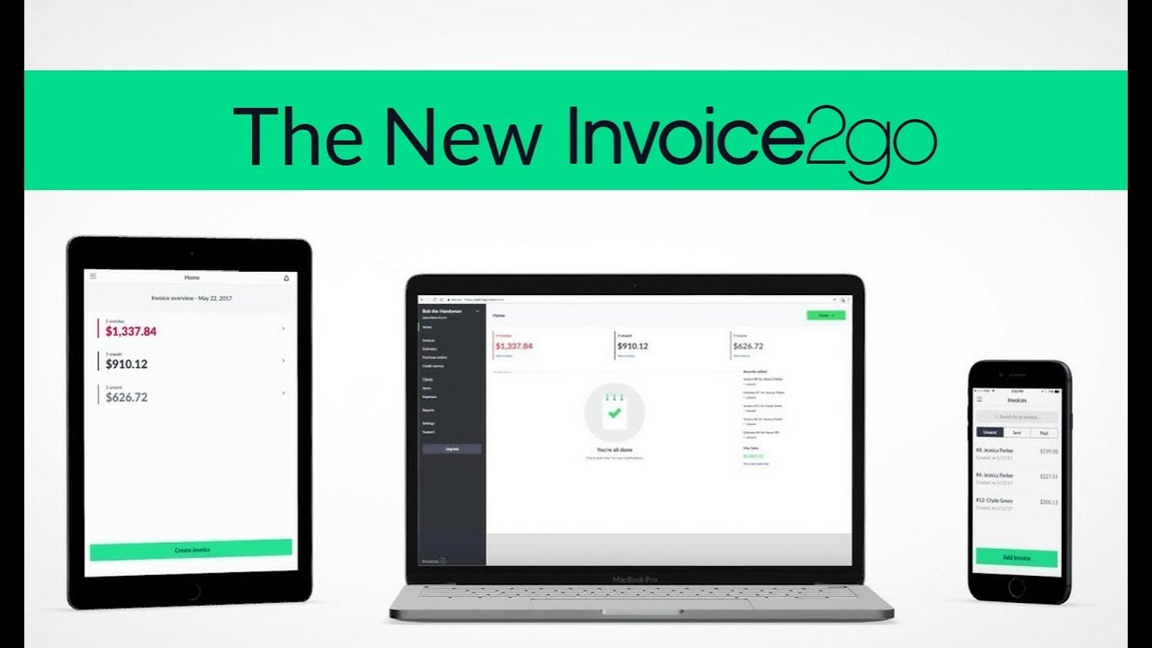 Say Hello To The New Invoicego YouTube - Invoice2go software
