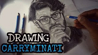 Drawing CARRYMINATI (Ajey Nagar) | Pencil sketch of Carryminati