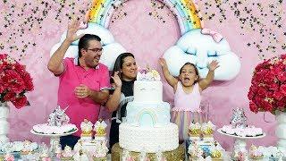 Aniversário de 10 anos da Maria Clara (Festa de unicórnio) - MC Divertida