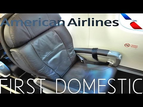 American Airlines FIRST CLASS Albuquerque to Los Angeles|Embraer 175