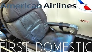 American Airlines FIRST CLASS Albuquerque to Los Angeles|TRIP REPORT|Embraer 175