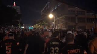 "Over 3,000 Cleveland Browns fans chant ""Baker Mayfield"" as they get first win since 2016"
