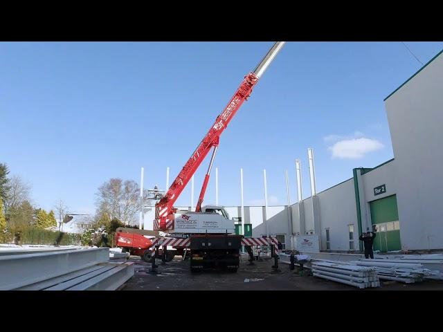 Neubau Hochregallager Bautagebuch #2: Stahlbau