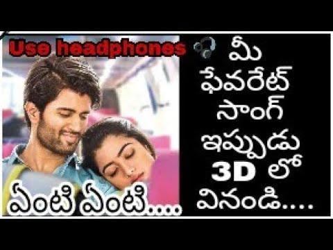 Yenti yenti || GeethaGovindam || Rashmika Mandanna || Vijay Devarakonda || 3D sound