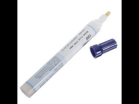 Unboxing Flux Pen Kester-186 Pen With Rosin flux FPC PCB Plate Welding Repair Tools //2018